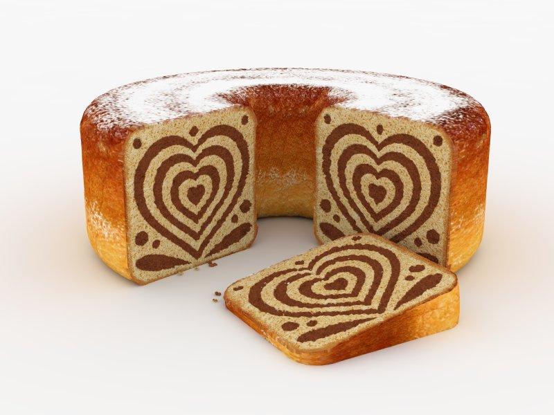 Figure 2: Visualisation of a 3D printed <em>potica</em> cake (concept) (3D model: Kaja Antlej; texturisation and rendering: Nina Oman).